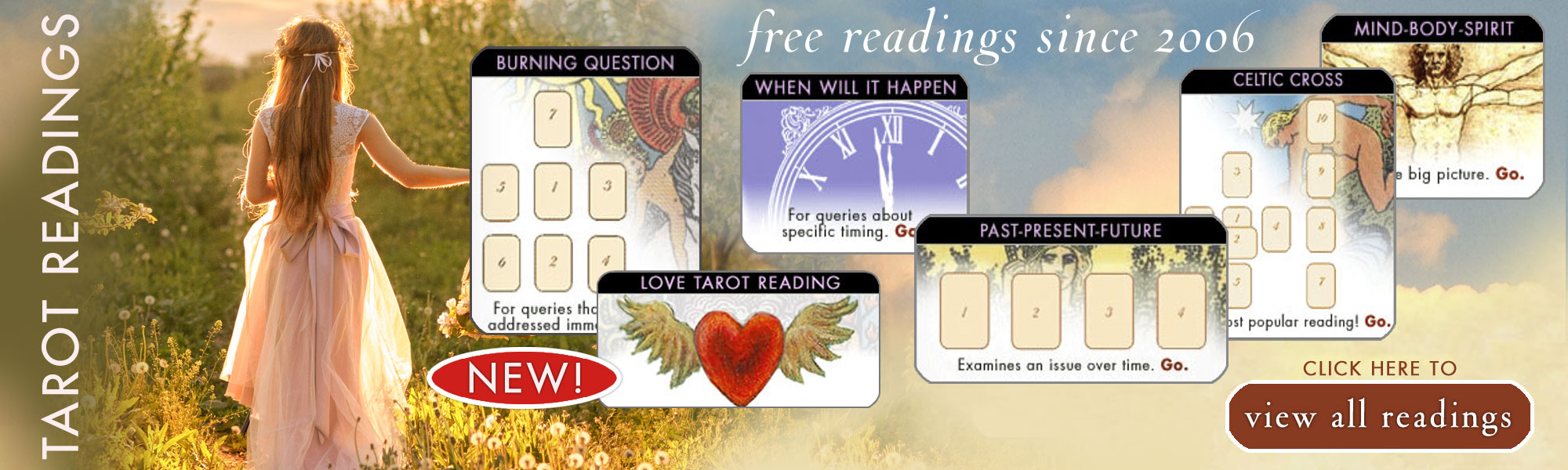 Free Tarot Readings featuring the Goddess Tarot