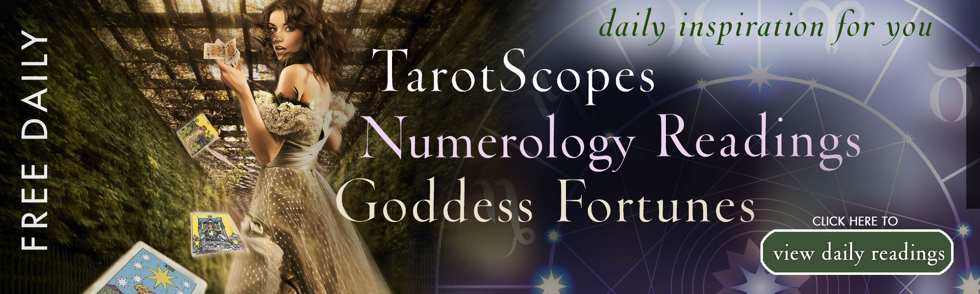 Free daily TarotScope, birthday, and goddess readings