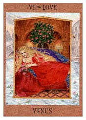 love card from the Goddess Tarot
